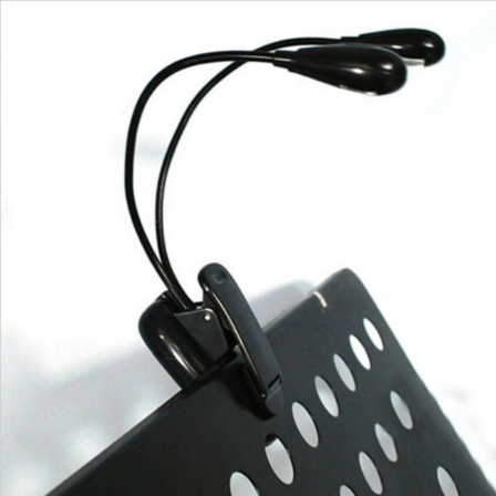Clip on LED music stand light